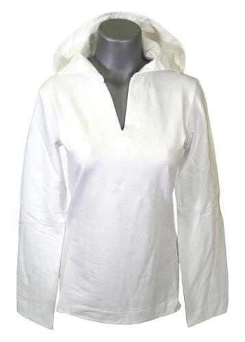 Roxy Quiksilver Donna Ragazze Bianco SUNSET con cappuccio a maniche lunghe Felpa con Cappuccio Bianco