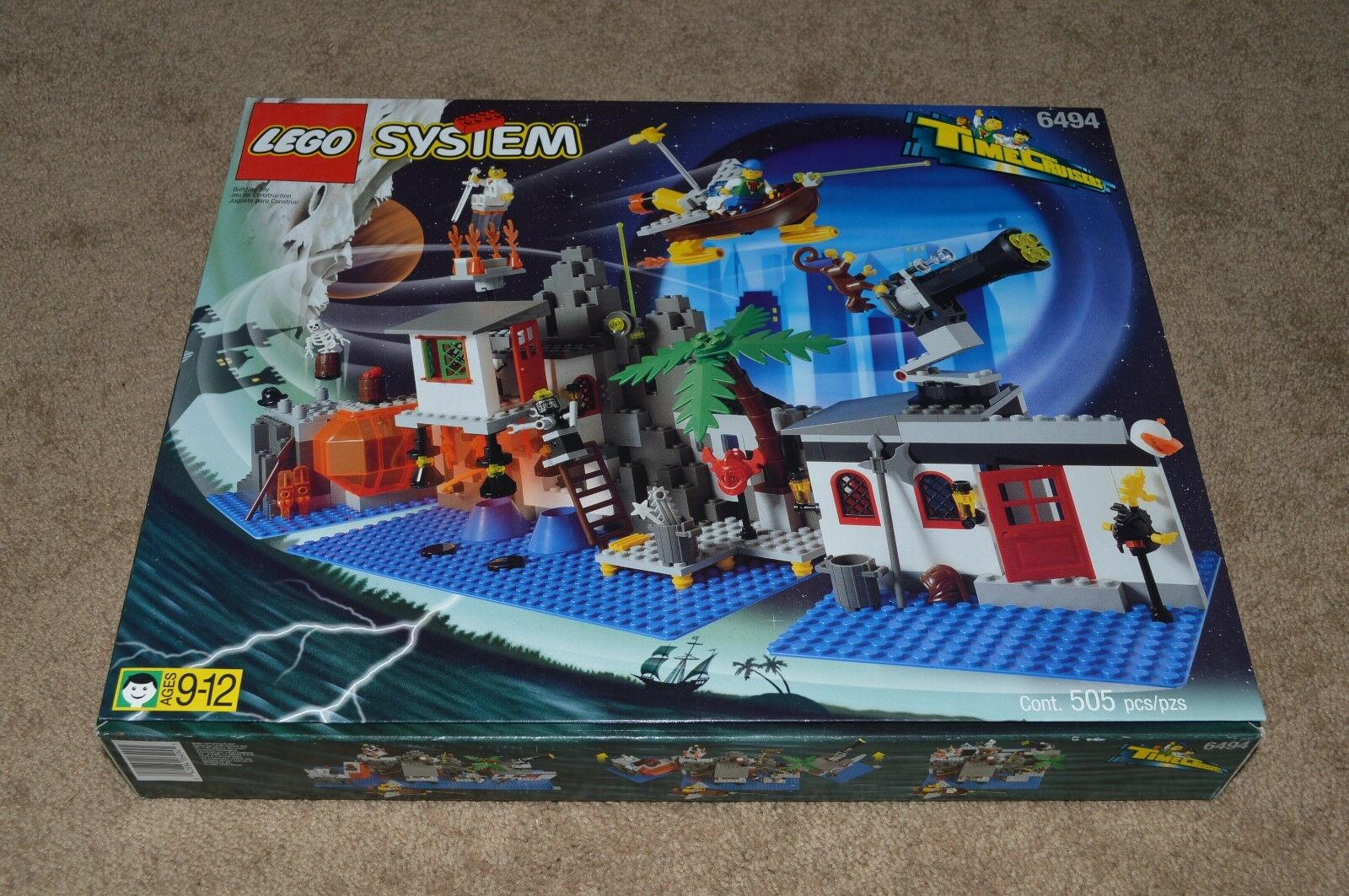 1996 Lego Time Cruisers 6494 Mystic Mountain Time Lab con Scatola