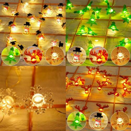 79/'/' 2m Christmas Tree Ornaments LED Lights String Merry Xmas Hanging Decor