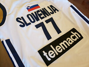 Luka Doncic  77 Slovenia Basketball MAVS ROY White Mens Replica ... 63027197a