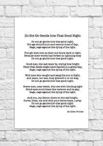do not go gentle poem
