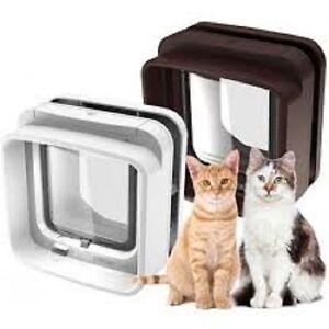 neueste sureflap mikrochip doppel scan katzenklappe wei multi haustier ebay. Black Bedroom Furniture Sets. Home Design Ideas