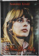 (A14) Gerollt/Filmplakat FOR YOUR LOVE ONLY 1976 Nastassja Kinski