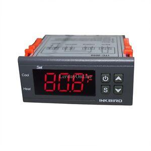 110V Digital Temperature Controller Thermostat w/ NTC Sensor Probe ITC-2000 New