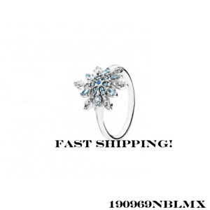 14b42a6ec Image is loading Authentic-Pandora-Crystalized-Snowflake-Ring-190969NBLMX -56-mm-