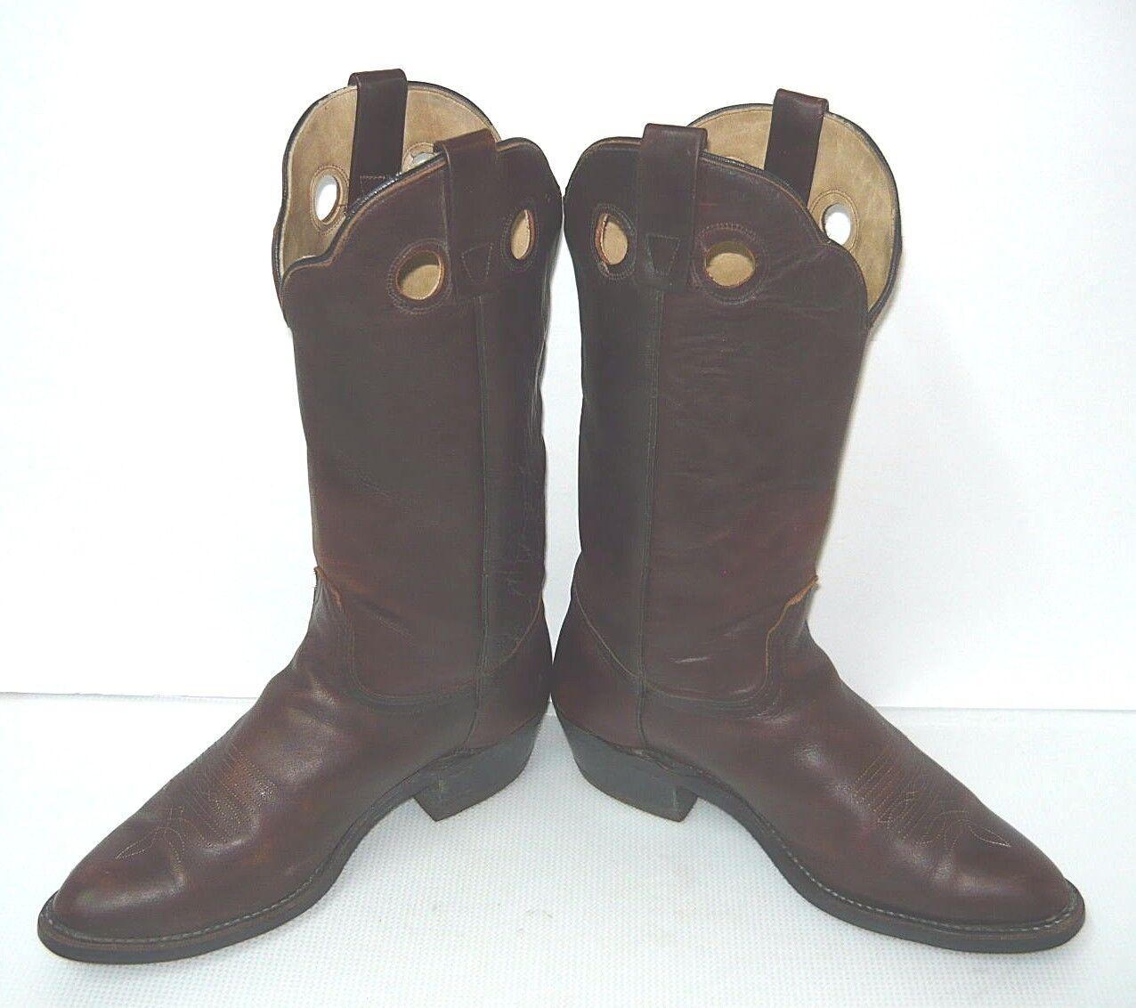 Vintage Goodyear braun Leather Upper Cowboy Western Stiefel Stiefel Stiefel Sz 10.5D 557385