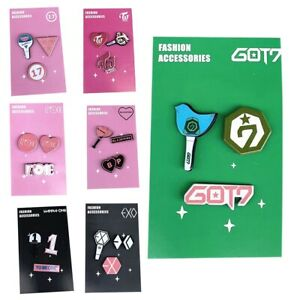 KPOP-Blackpink-TWICE-GOT7-EXO-Badge-Brooch-Chest-Pin-Souvenir-Jewelry-Gift-Fans
