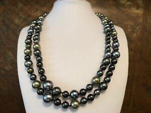 Muschelkernperlen-Collier-Perlen-Kette-Laenge-120-cm-Perlen-ca-8-12-mm-NEU