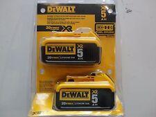 DEWALT DCB205-2 20V 20 Volt Lithium Ion 5.0 AH Battery Packs New In Package NIP