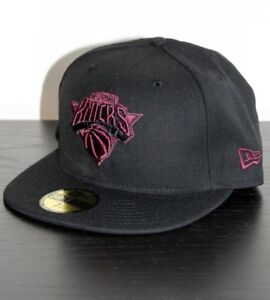 NEW ERA 59FIFTY NBA NY New York Knicks Fitted Cap Black hat NY 59.6 ... 324c9fb1bda