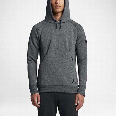 802179-065 Cool Grey//Black New Men/'s Jordan Icon Fleece Pull-Over Hoodie