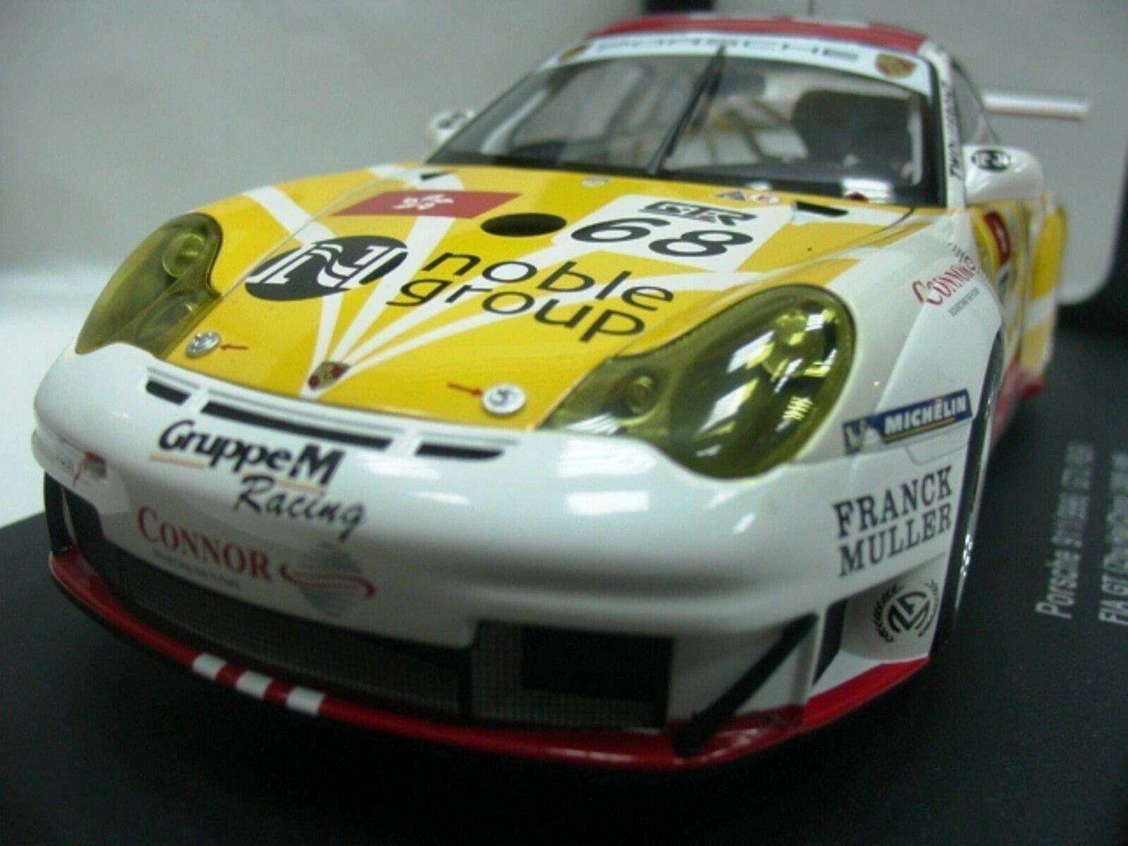 Wow extrêmement rare Porsche 996 911 GT3RSR o'young Zhuhai 2005 1 18 AUTO Art-997