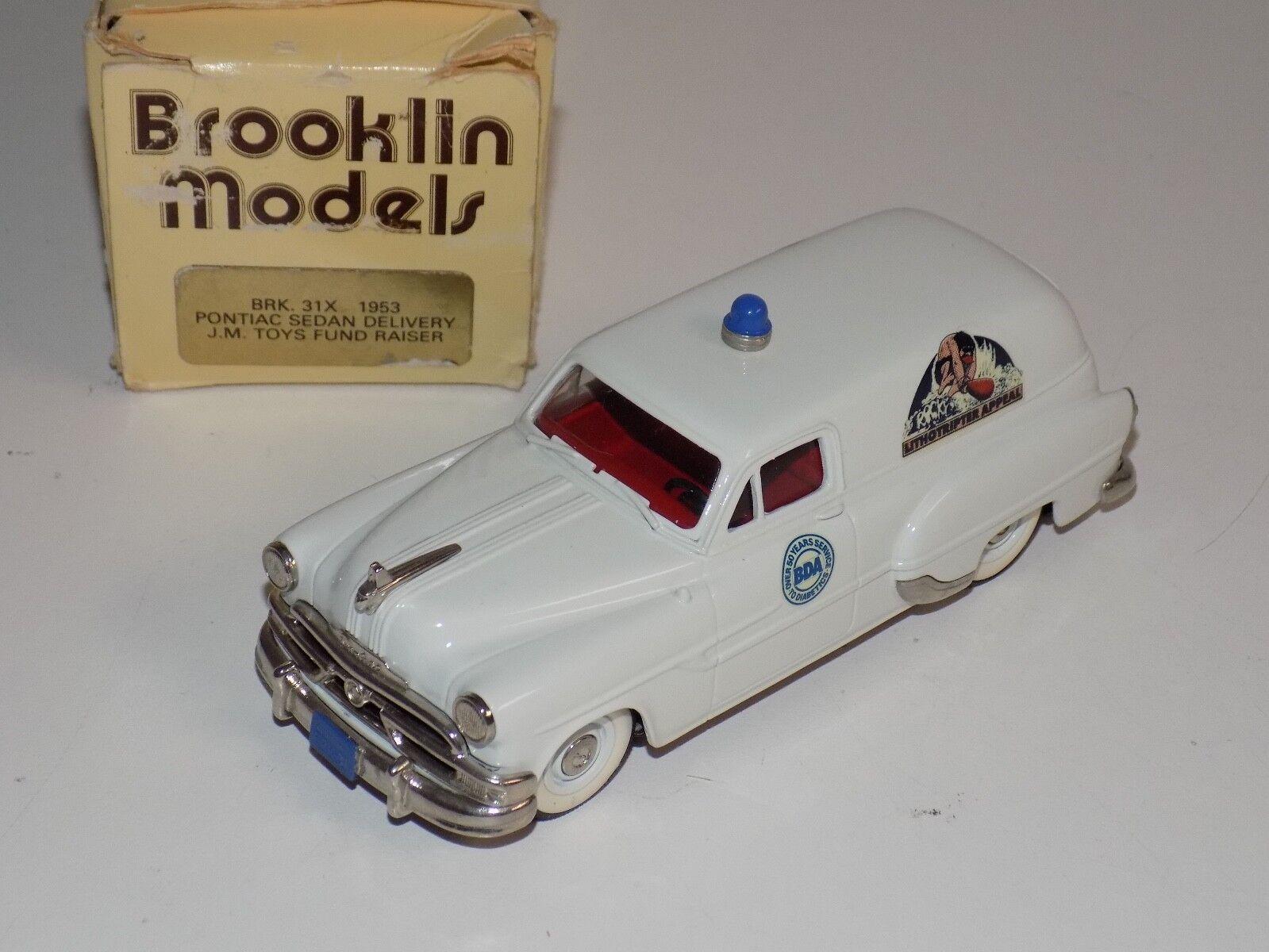1 43 BROOKLIN MODELS 1953 PONTIAC SEDAN DELIVERY J.M. jouets fonds Rais Brk31X B31