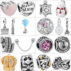 Women-Handmade-Charms-Fine-European-Beads-For-Brand-925-Silver-Bracelets-Chain