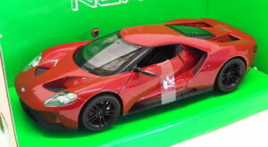 Welly-Escala-1-24-27-Modelo-de-Coche-24082W-2017-Ford-GT-Borgona