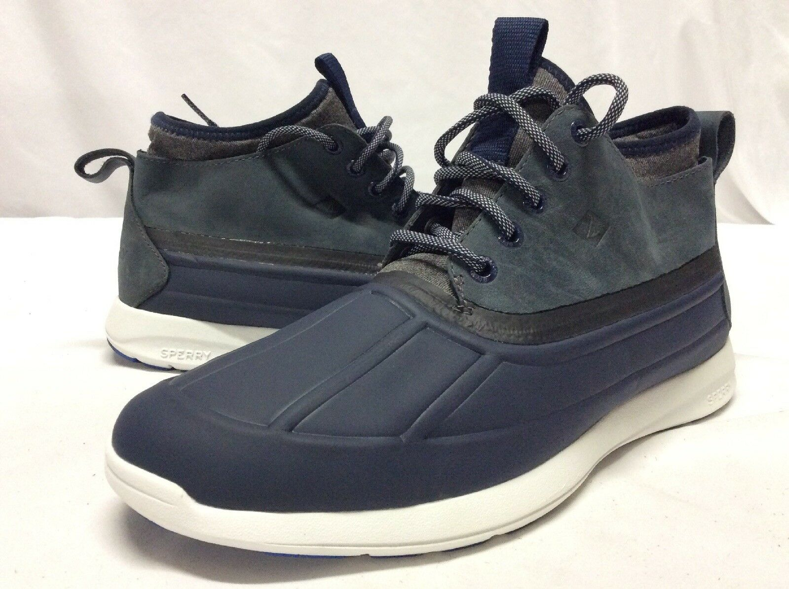 Sperry T Sider  Rightrich Men's SOJOURN DUCK CHUKKA Boots, Navy, Size 9, Eur 42