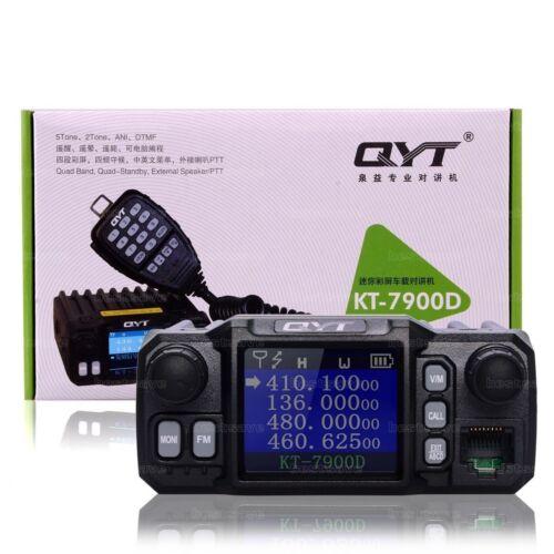 QYT KT-7900D Quad Band Quad-Standby 5Tone 25W VHF UHF Car Truck Ham Mobile Radio