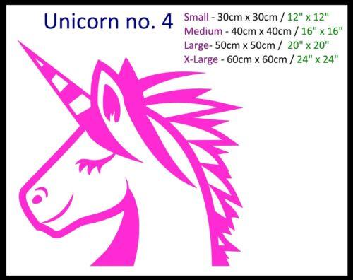 Unicorn Collection Wall Stickers Girls Kids Bedroom Nursery Pink Art Decal Stars