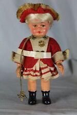 alte Celluloid Puppe - Tanzmariechen mit rheinländischen Gardetanzkostüm   /S200