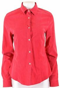 MARINA-YACHTING-Womens-Corduroy-Shirt-Size-14-Large-Pink-Cotton-NA02