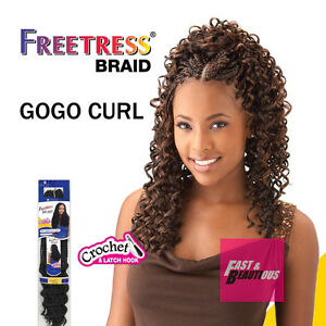 Image Is Loading Freetress Premium Synthetic Hair Braid Crochet Gogo Curl