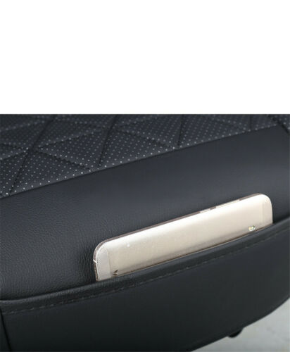 Car Breathable PU Leather Front Seat Protector Cover Cushion Durable Universal