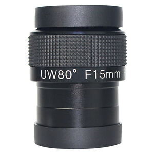 New 2'' Angle 80° Eyepiece Fully Multi-Coated F15mm Ultra Wide For Telescope