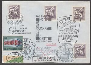 AUSTRIA COVER WITH 1962 1964 AND 1969 SPECIAL CANCELLATIONS - Paignton, United Kingdom - AUSTRIA COVER WITH 1962 1964 AND 1969 SPECIAL CANCELLATIONS - Paignton, United Kingdom