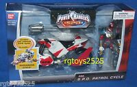 Power Rangers Spd Red Patrol Cycle W Ranger Factory Sealed 2004