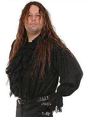Gothic Mittelalter Pirat Vampir Hemd Spitze Rüschen Ragnaröll S/M,L,XL schw,weiß