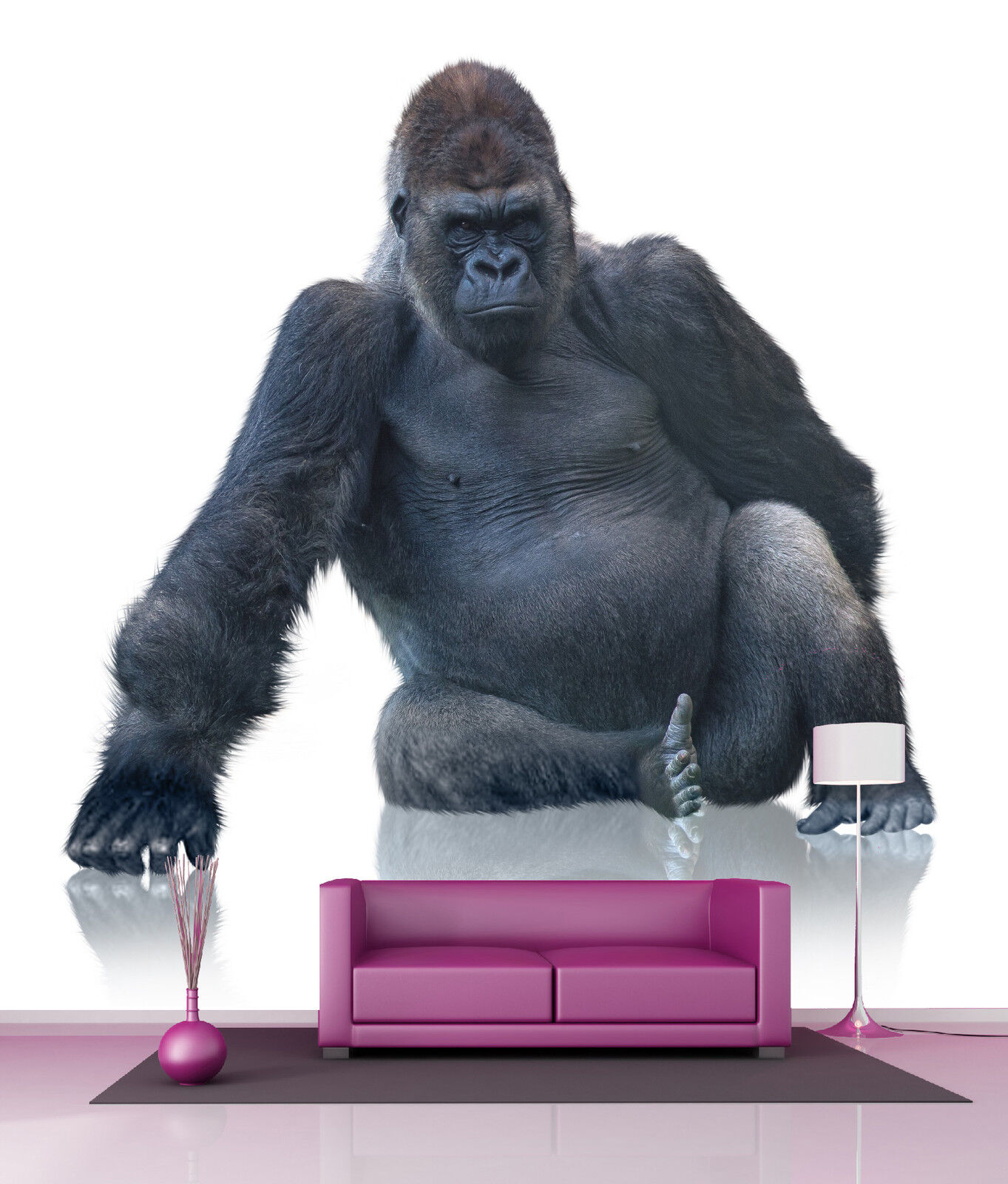Wallpaper Giant Decoration Wall Gorilla Ref 4507
