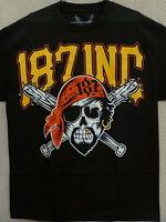 187 Inc Men's T-shirt pirate Skull --size M To 4xl, Black/yellow
