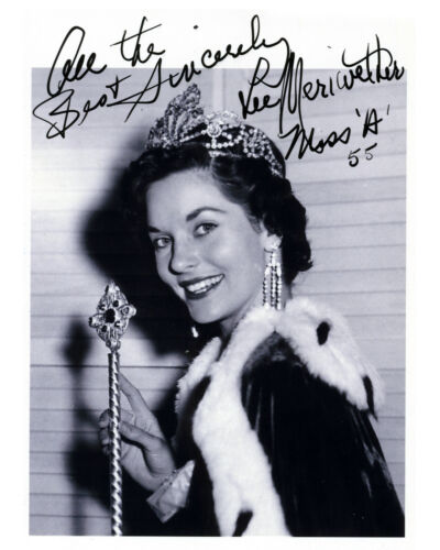 REPRINT MISS AMERICA 1955 LEE MERIWETHER #SN1 autographed signed photo