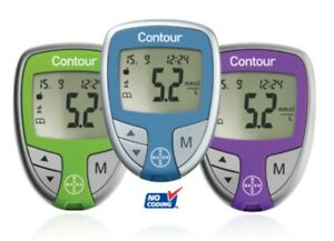 Contour Blood Glucose Meter Purple Bayer Diabetes