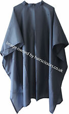 Hair Cutting Cape Salon Hairdresser Barber No Sleeve Velcro Neck NAVY BLUE.  D+