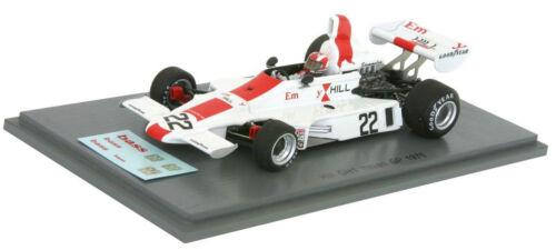 Spark S5671 Hill GH1 #22 italiano GP 1975-Rolf Stommelen 1//43 Escala