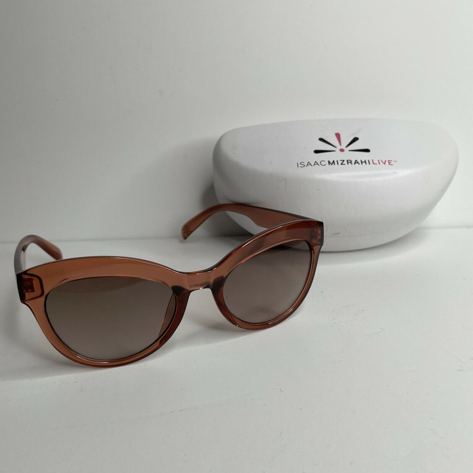 Isaac Mizrahi Live! Rounded Cat Eye Sunglasses - Used - Very Clean