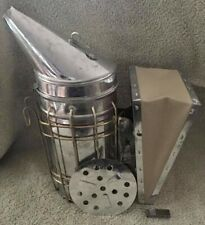 New Listingbee Hive Smoker With Heat Shield Calming Beekeeping Equipment Leather Bellows