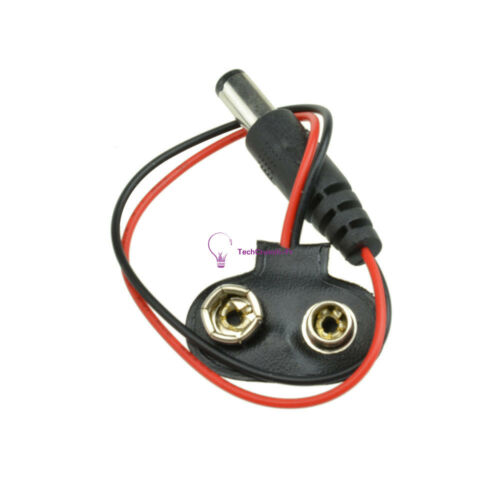 5 PCS 9V DC T type Battery Power Cable Barrel Jack Connector For Arduino DIY