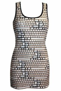 Ladies-Unique-Vintage-Keyboard-Buttons-All-Over-Print-Long-Vest-Tank-Top-Dress