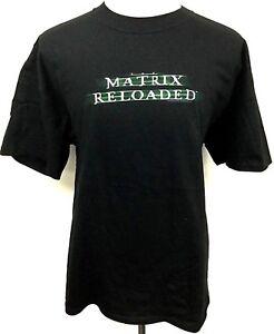 Matrix-Reloaded-Black-T-Shirt-Rare-Original-Movie-Promo-Memorabilla-Mechandise