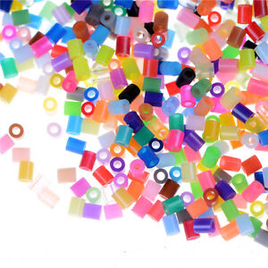 1000pcs/Set DIY 2.6mm Mixed Colours HAMA/PERLER Beads for GREAT Kids Fun Cra  PD