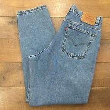 LEVIS Vtg 90s Womens High Waist Jeans 550 Relaxed Tapered 100% Cotton 16 MIS M