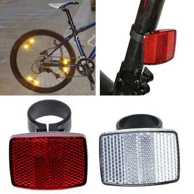 HoHome Bike Light Warning Light,Red Bicycle Bike Rear Fender Safety Warnning Reflector Tail Mudguard Cycling New/_