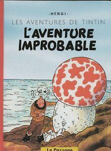 PASTICHE-TINTIN-L-039-aventure-improbable-Cartonne-60-pages-couleurs-et-n-blanc