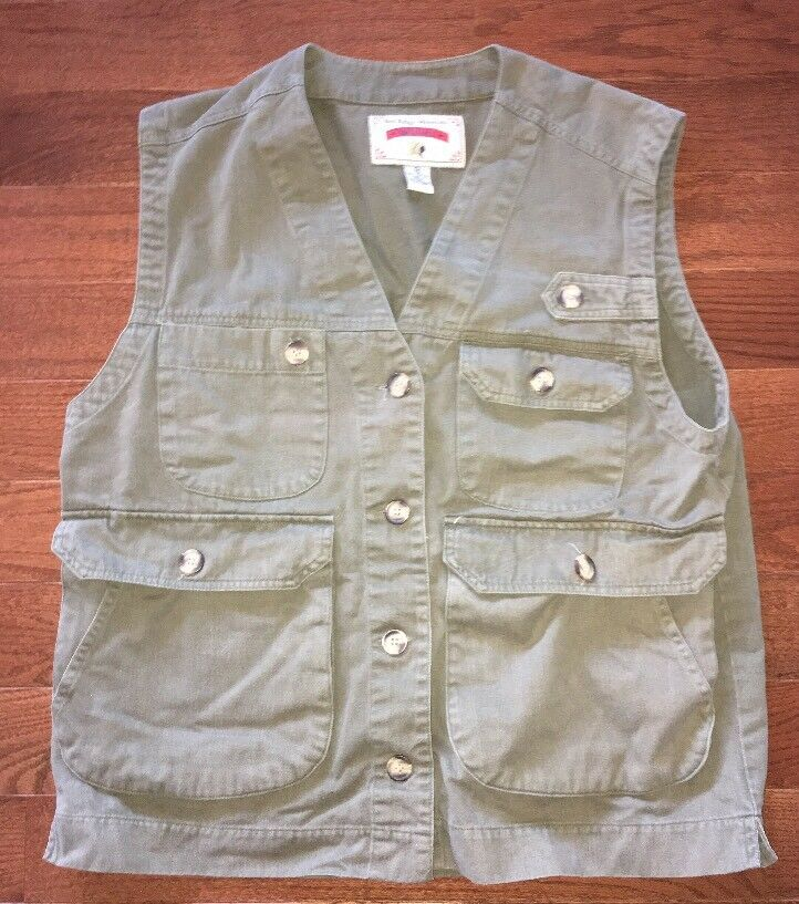 Red Ridge Mountain Outfitters Mens Green Button Front Vest Size M