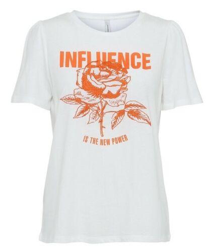 soyaconcept Ingun modisches Damen T-Shirt in Offwhite mit Druck