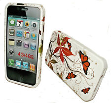 Design 1 Handy Hülle Cover Case + Displayschutzfolie für Apple iPHONE 4 - 4S