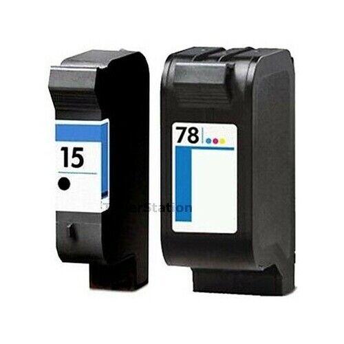 2 x Ink Cartridges for HP 15 78 HP Officejet V30 V40 V40xi V45 PSC 720 750 750xi