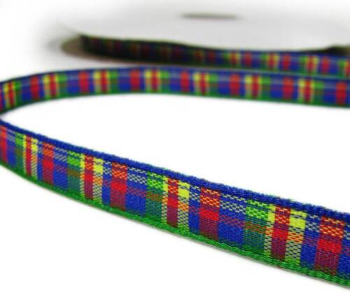 "4 yds Cameron Bright School Plaid Ribbon 3//8/""W"
